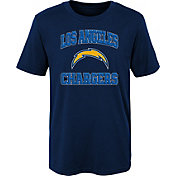 NFL Team Apparel Youth Los Angeles Chargers Game Time Navy T-Shirt