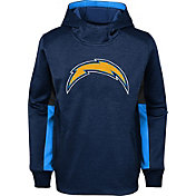 NFL Team Apparel Youth Los Angeles Chargers Status Performance Navy Hoodie