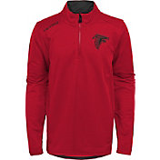 NFL Team Apparel Youth Atlanta Falcons Unlock Red Quarter-Zip Pullover