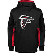 NFL Team Apparel Youth Atlanta Falcons Status Performance Black Hoodie
