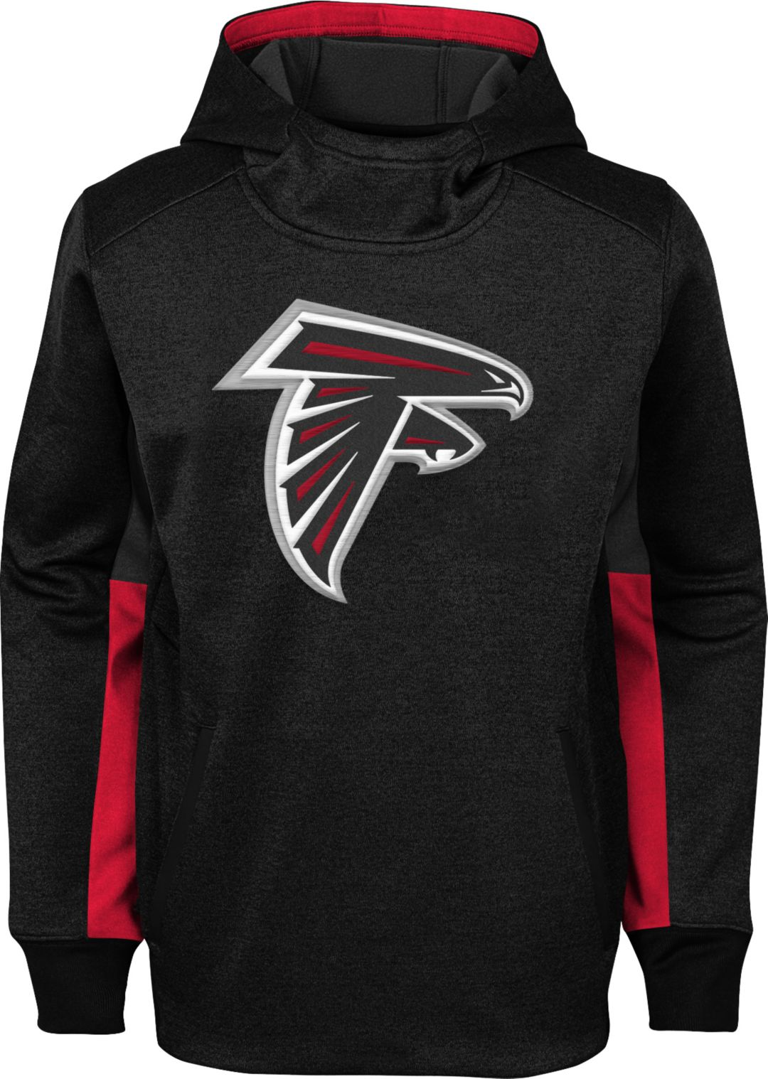 low priced 1afa8 fadf0 NFL Team Apparel Youth Atlanta Falcons Status Performance Black Hoodie