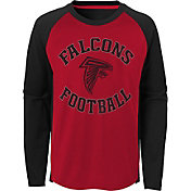 NFL Team Apparel Youth Atlanta Falcons Air Raid Long Sleeve Red Shirt