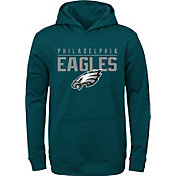 NFL Team Apparel Youth Philadelphia Eagles Pace Set Green Hoodie