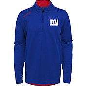NFL Team Apparel Youth New York Giants Unlock Royal Quarter-Zip Pullover