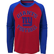 NFL Team Apparel Youth New York Giants Air Raid Long Sleeve Navy Shirt
