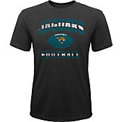 NFL Team Apparel Youth Jacksonville Jaguars Big Game Tri-Blend Black T-Shirt