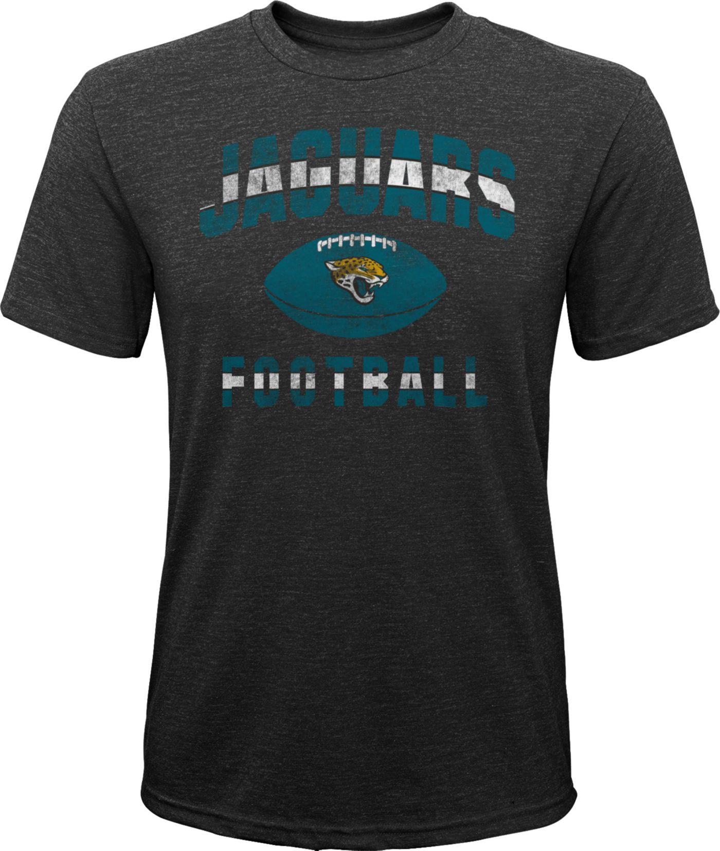 NFL Team Apparel Youth Jacksonville Jaguars Big Game Tri-Blend Black T-Shirt