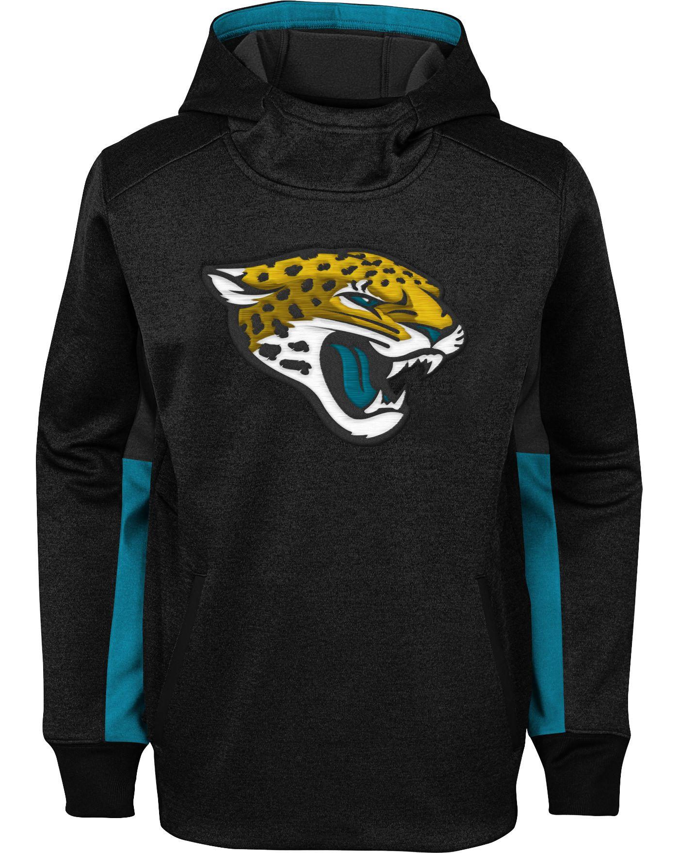 NFL Team Apparel Youth Jacksonville Jaguars Status Performance Black Hoodie