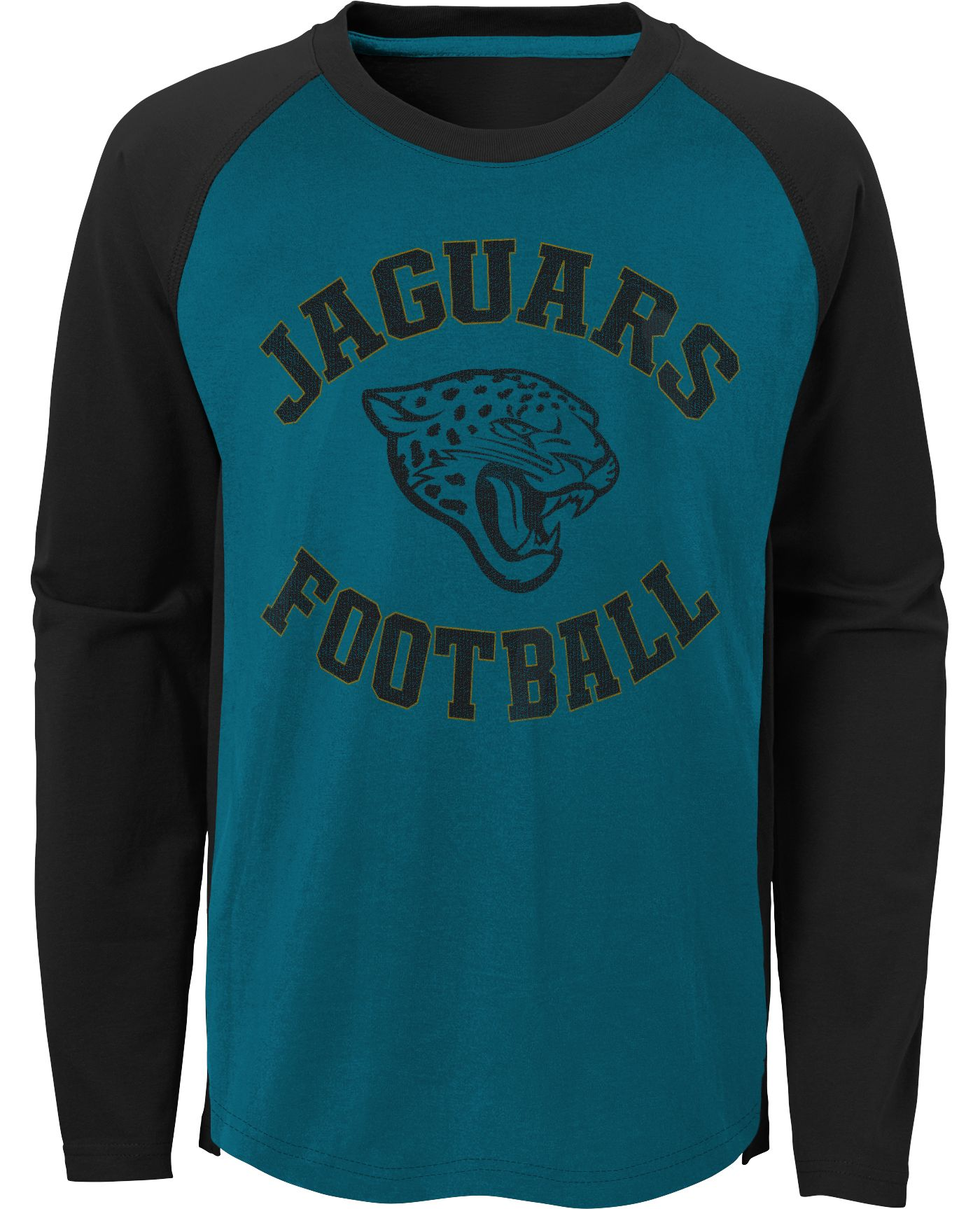NFL Team Apparel Youth Jacksonville Jaguars Air Raid Long Sleeve Green Shirt