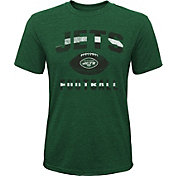 NFL Team Apparel Youth New York Jets Big Game Tri-Blend Green T-Shirt