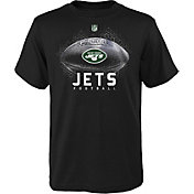 NFL Team Apparel Youth New York Jets Hexagon Black T-Shirt