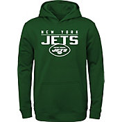 NFL Team Apparel Youth New York Jets Pace Set Green Hoodie