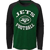 NFL Team Apparel Youth New York Jets Air Raid Long Sleeve Green Shirt