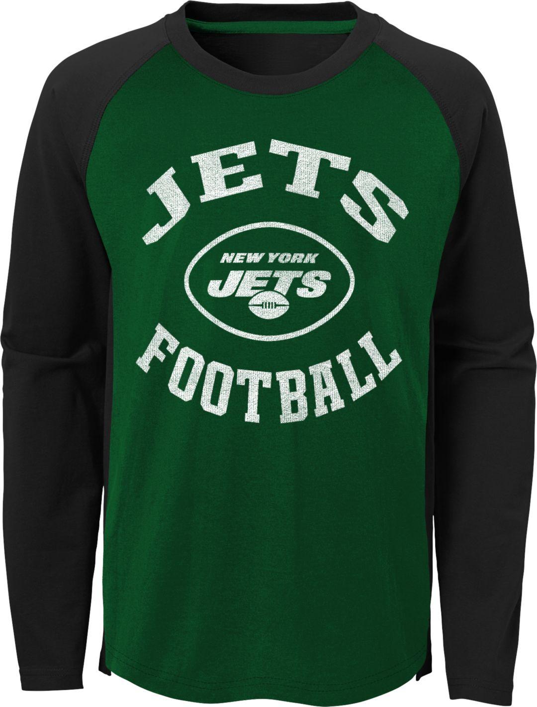 afbcb959 NFL Team Apparel Youth New York Jets Air Raid Long Sleeve Green Shirt