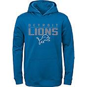 NFL Team Apparel Youth Detroit Lions Pace Set Blue Hoodie
