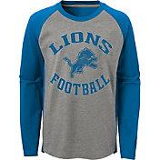 NFL Team Apparel Youth Detroit Lions Air Raid Long Sleeve Blue Shirt