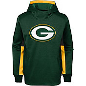 NFL Team Apparel Youth Green Bay Packers Status Performance Green Hoodie