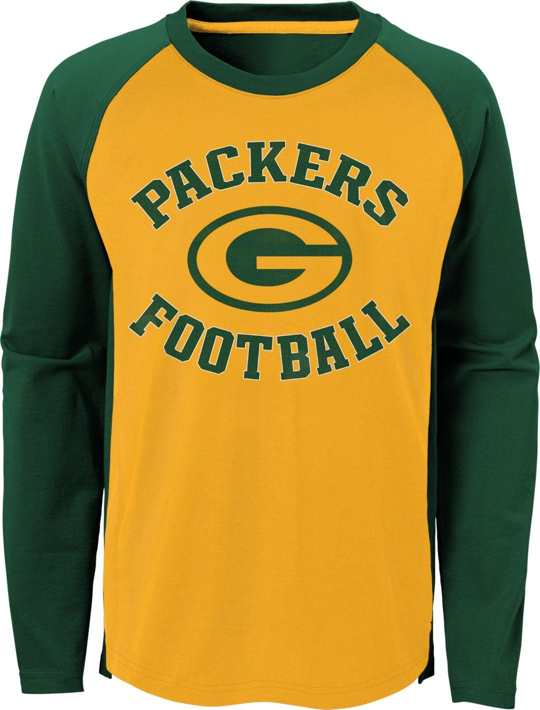 buy popular 821f5 2b612 NFL Team Apparel Youth Green Bay Packers Air Raid Long Sleeve Green Shirt