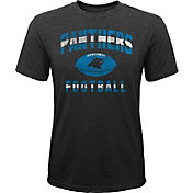 NFL Team Apparel Youth Carolina Panthers Big Game Tri-Blend Black T-Shirt