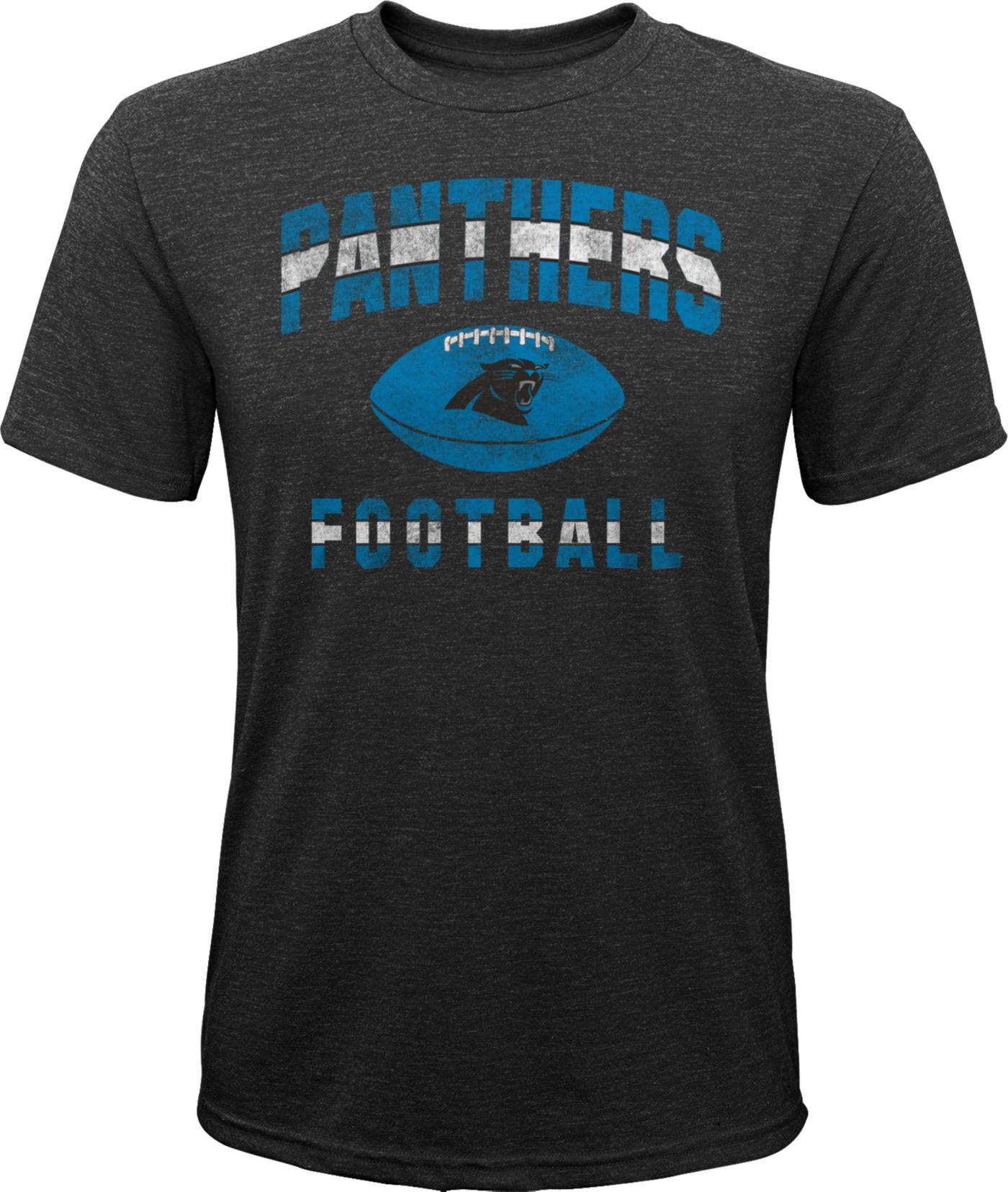 NFL Team Apparel Youth Carolina Panthers Big Game Tri-Blend Black T-Shirt
