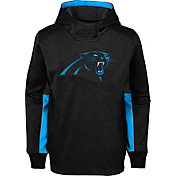 NFL Team Apparel Youth Carolina Panthers Status Performance Black Hoodie