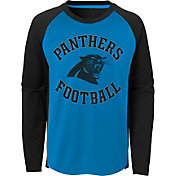 NFL Team Apparel Youth Carolina Panthers Air Raid Long Sleeve Black Shirt