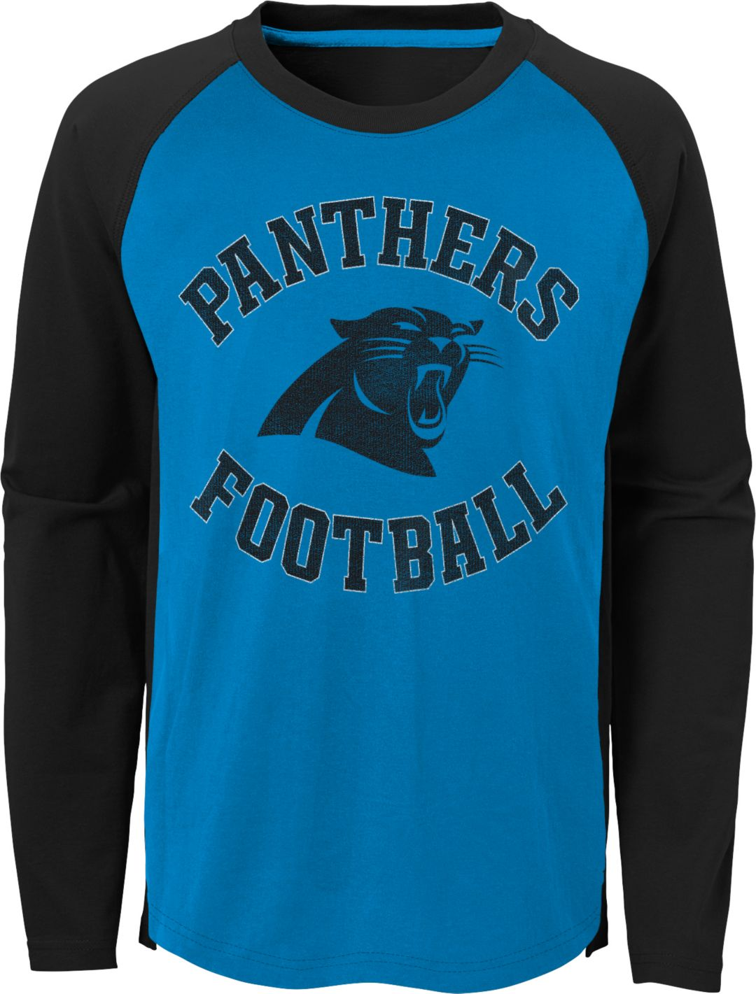 separation shoes 6634d 4c59f NFL Team Apparel Youth Carolina Panthers Air Raid Long Sleeve Black Shirt