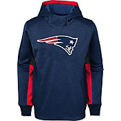 NFL Team Apparel Youth New England Patriots Status Performance Navy Hoodie