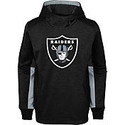 NFL Team Apparel Youth Oakland Raiders Status Performance Black Hoodie