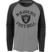 NFL Team Apparel Youth Las Vegas Raiders Air Raid Long Sleeve Black Shirt