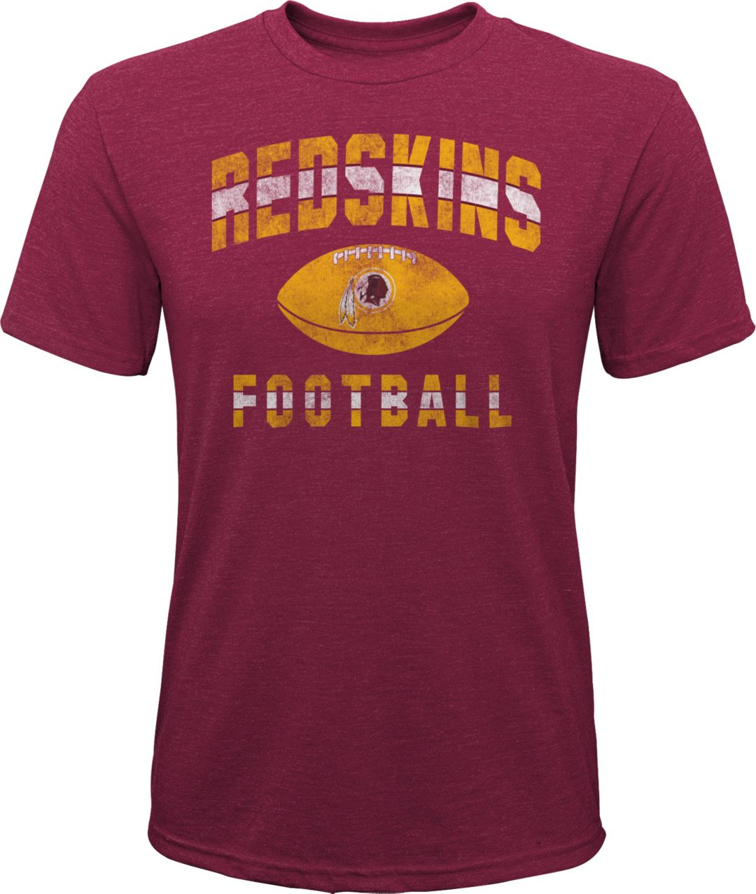 pretty nice fbe28 7271e NFL Team Apparel Youth Washington Redskins Big Game Tri-Blend Red T-Shirt