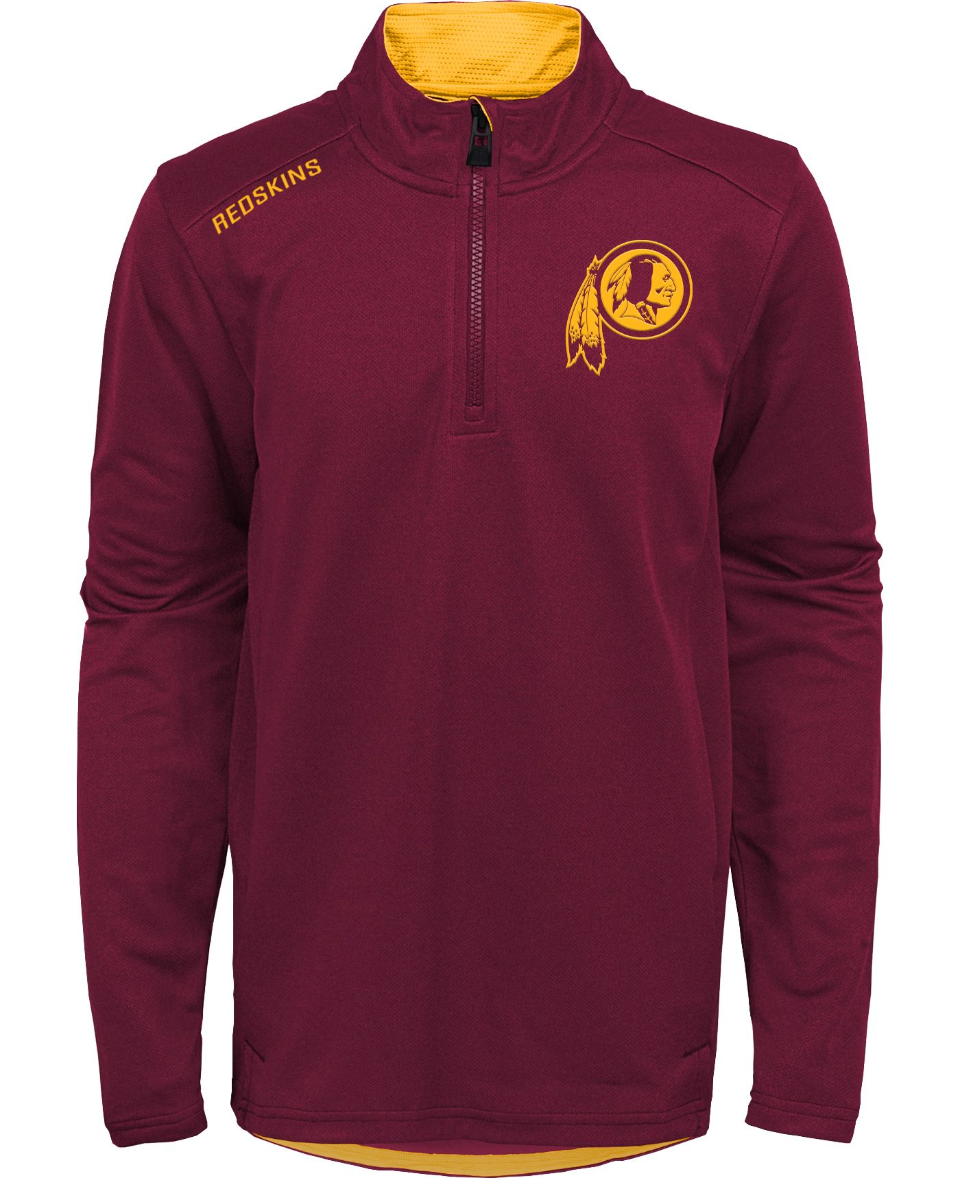 NFL Team Apparel Youth Washington Redskins Unlock Red Quarter-Zip Pullover