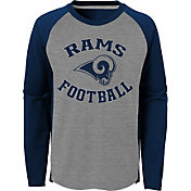 NFL Team Apparel Youth Los Angeles Rams Air Raid Long Sleeve Navy Shirt