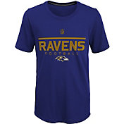 NFL Team Apparel Youth Baltimore Ravens Ultra Purple T-Shirt