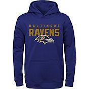 NFL Team Apparel Youth Baltimore Ravens Pace Set Black Hoodie