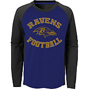 NFL Team Apparel Youth Baltimore Ravens Air Raid Long Sleeve Purple Shirt