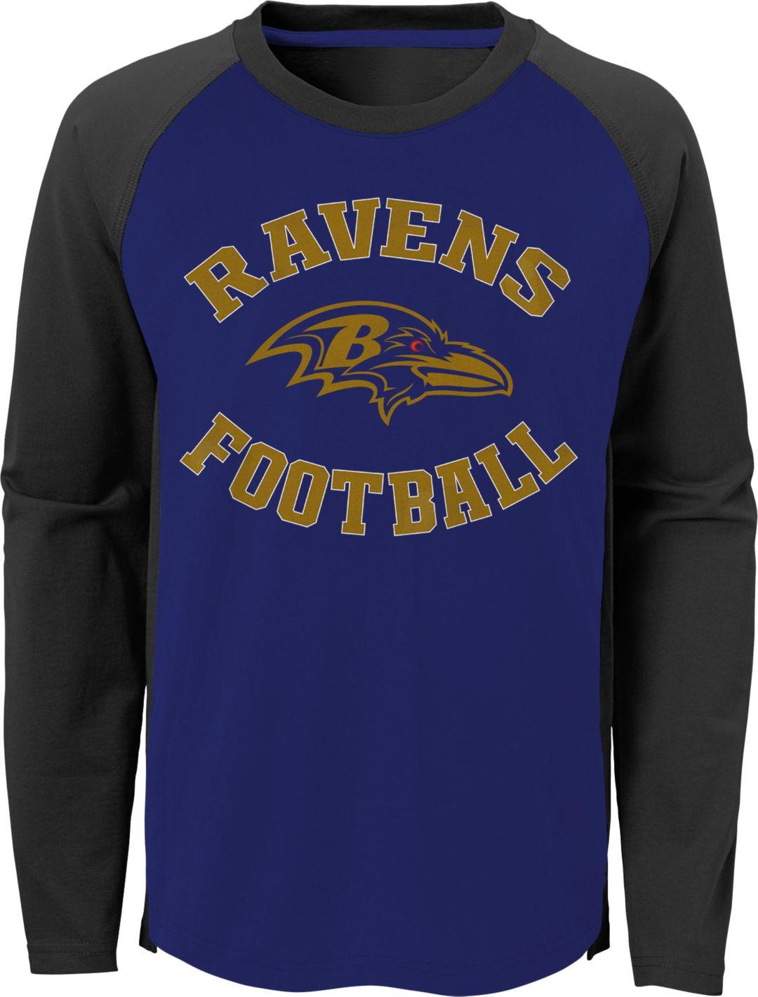 3bb3e879 NFL Team Apparel Youth Baltimore Ravens Air Raid Long Sleeve Purple Shirt