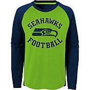 NFL Team Apparel Youth Seattle Seahawks Air Raid Long Sleeve Navy Shirt