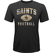 NFL Team Apparel Youth New Orleans Saints Big Game Tri-Blend Black T-Shirt