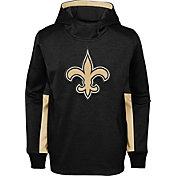 NFL Team Apparel Youth New Orleans Saints Status Performance Black Hoodie