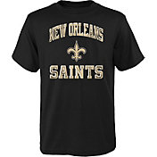 NFL Team Apparel Youth New Orleans Saints Power Black T-Shirt