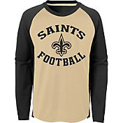 NFL Team Apparel Youth New Orleans Saints Air Raid Long Sleeve Black Shirt