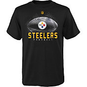 NFL Team Apparel Youth Pittsburgh Steelers Hexagon Black T-Shirt