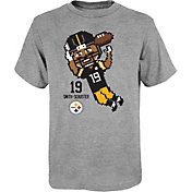 NFL Team Apparel Youth Pittsburgh Steelers JuJu Smith-Schuster #19 Pixel T-Shirt