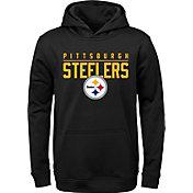 NFL Team Apparel Youth Pittsburgh Steelers Pace Set Black Hoodie