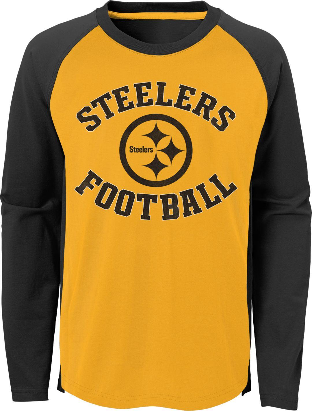 new style 43795 9cc3b NFL Team Apparel Youth Pittsburgh Steelers Air Raid Long Sleeve Black Shirt