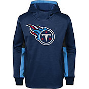 NFL Team Apparel Youth Tennessee Titans Status Performance Navy Hoodie