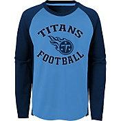 NFL Team Apparel Youth Tennessee Titans Air Raid Long Sleeve Navy Shirt