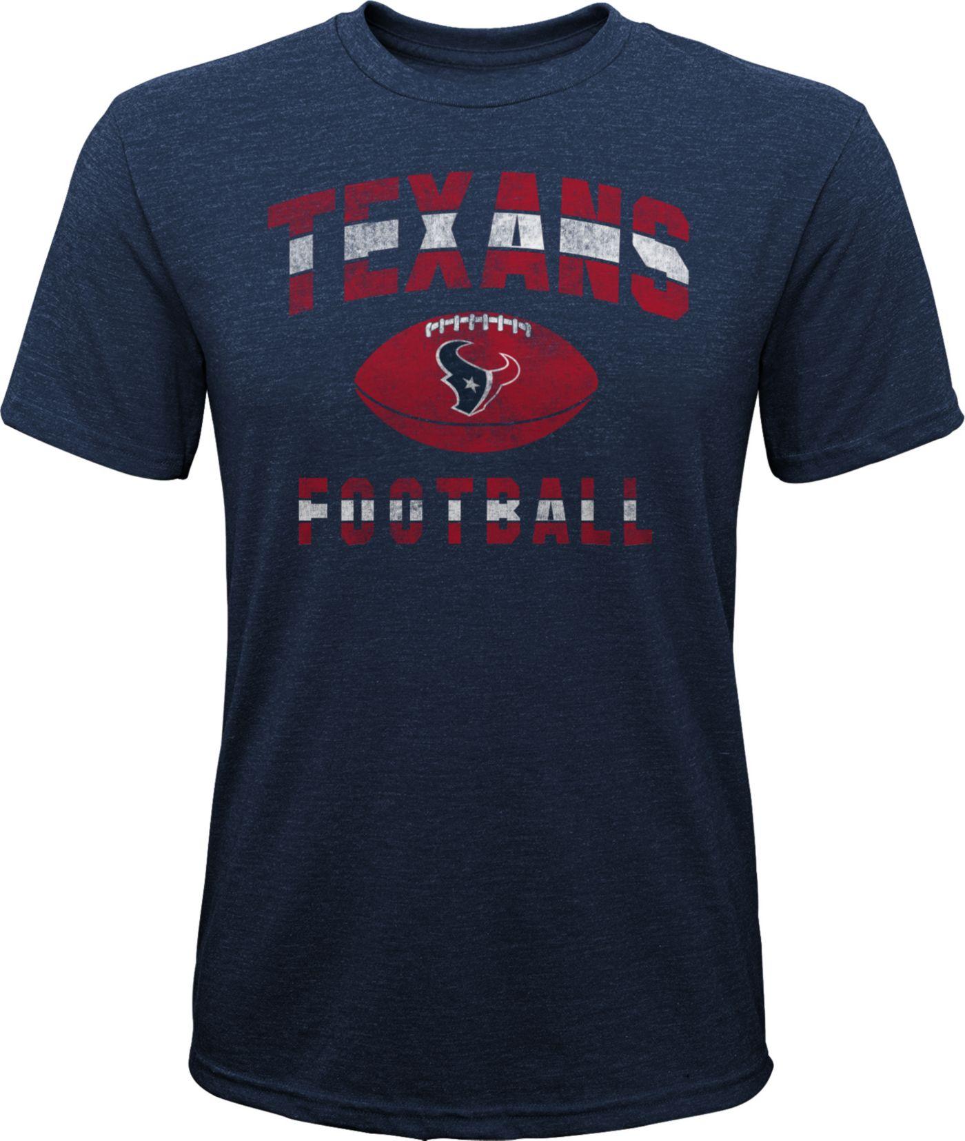 NFL Team Apparel Youth Houston Texans Big Game Tri-Blend Navy T-Shirt