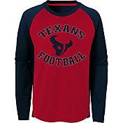 NFL Team Apparel Youth Houston Texans Air Raid Long Sleeve Navy Shirt